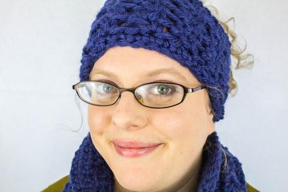 Crochet Ear Warmer Pattern Bulky Yarn : Super Bulky Lace Cowl and Headband Set - Crochet Cowl and ...
