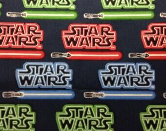 One Half Yard of Fabric Material - Star Wars Light Sabers