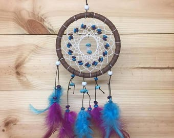 Dreamcatcher Bright Native American Dream Catcher Flowers Feathers Seashells Gemstones
