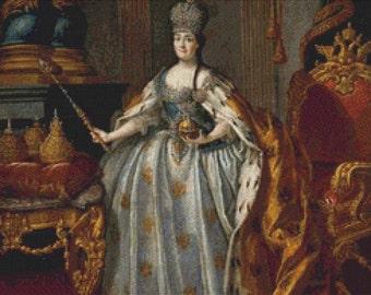 Portrait Of Catherine II PDF Cross Stitch Pattern