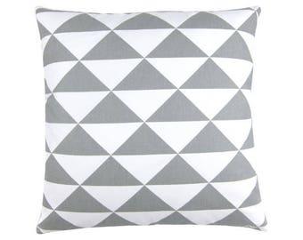 Cushion cover dimension triangles grey white graphic Scandinavian 40 x 40 cm