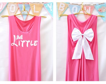 Big Little Shirts Tank Premium with Bow : Sorority Shirt - Big Little Reveal - Bow Shirt - Razor Back Tank - Sorority Family Shirts - Tank