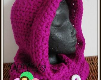 Crochet Magenta Snood - Teen/Adult