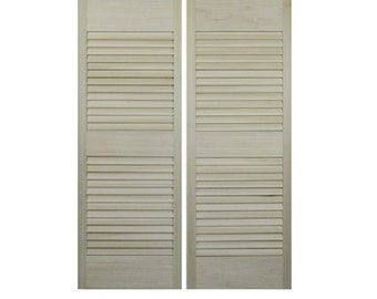 Custom Louvered Door- Made to your Door Opening Size 24 -36  Door  sc 1 st  Etsy : louverd doors - pezcame.com