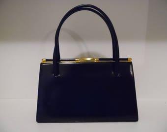 Vintage Bonwit Teller Black Handbag