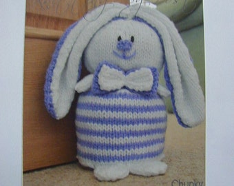 Rabbit Door Stop Knitting Pattern In Chunky