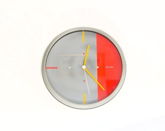 Philips Wall Clock Made in West Germany. HR 5694. 1980s