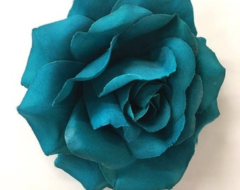 """Valentines day Special- large flower clip 5"""" / bridesmaids hair flower / flower brooch pin / large flower/ spring summer accessories /"""