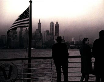 Lower Manhattan NY seen from the SS Coamo Greeting Card