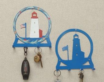 Lighthouse with Flag Key Rack