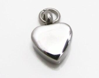 Cremation Urn, Heart Urn, Stainless Steel Urn, Stamping Blank, Hand Stamping Blank, Engraving Blank, Small Heart Urn 11mm, Heart Blank (136)