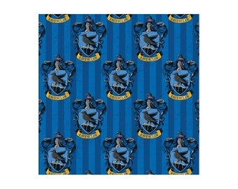 Harry Potter Fabric Ravenclaw Blue From Camelot 100% Cotton