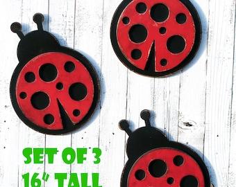 Ladybug Wall Decor Lady Bug Ladybird Nursery Decor Nursery Wall Art Girls Nursery Ladybug Nursery Girl Room Decor Baby Gift READY TO SHIP