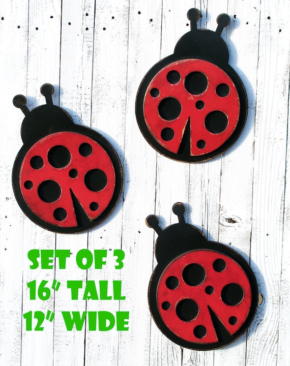 Ladybug Wall Decor Lady Bug Ladybird Nursery Decor Nursery