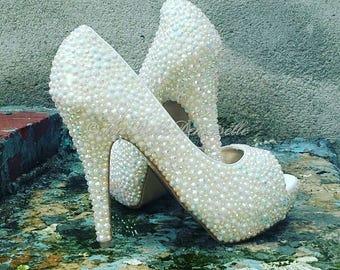 Wedding Shoes, Bridal Shoes, Crystal Peep Toe Shoe's, Crystal Wedding Shoes, Peep Toe Wedding Shoes, Crystal Shoes, Strass Heels