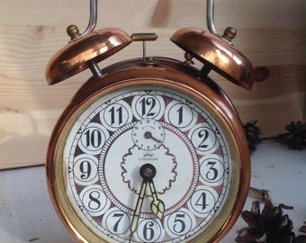Vintage machenical, wind-up alarm clock