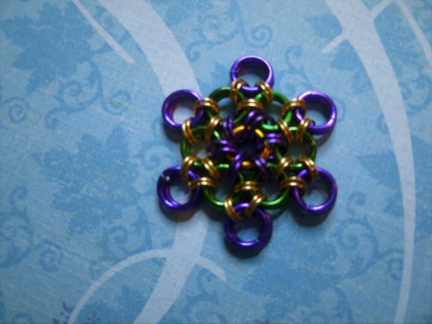 Chainmail Snowflakes Super Hero Inspired Christmas Ornaments Made To Order Buy 1 for 8.00, 2 for 16.00, and Various Sets Also Available
