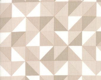 1/2 Yard - Spectrum Ombre - Half Square Triangle - Sand - V and Co - Vanessa Christenson - Moda Fabrics - Fabric Yardage - 10860-20