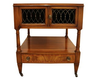 French Regency Burled Wood Parque Top-Side/End Table