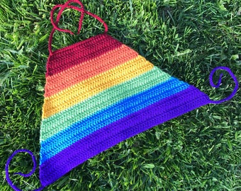 Kids Crocheted Rainbow Halter Top