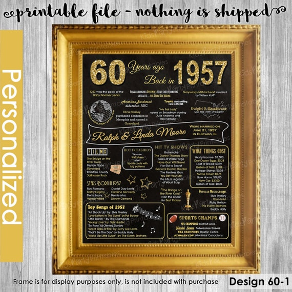 60th Wedding Anniversary Ideas: 60th Anniversary Gift For Parents 60th Wedding Anniversary