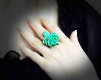 Shimmery Octopus ring