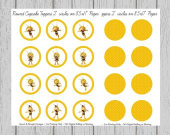 """2"""" Round Cupcake Toppers"""