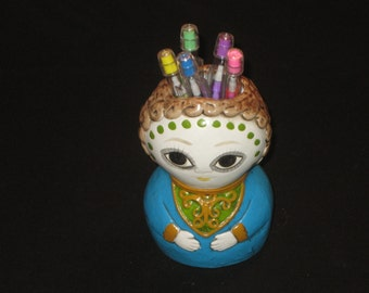 Vintage Laurids Lonborg, Denmark 1960s Paper Maché Pen/Pencil Holder