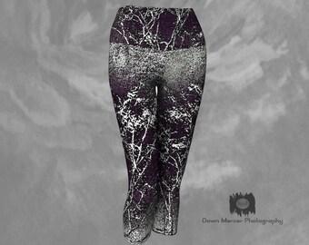 Printed Leggings Capris Yoga Leggings Womens Capri Leggings Tights Capris Capri Yoga Leggings Cropped Leggings Art Print Capri Leggings