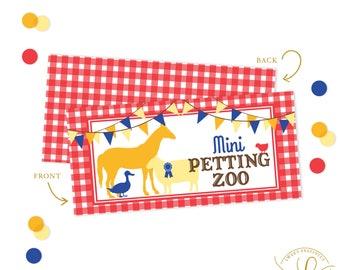 County Fair Party | County Fair Favors | County Fair Treat Bag Toppers | Mini Petting Zoo Favors | Farm Animal Favors | Treat Bag Toppers