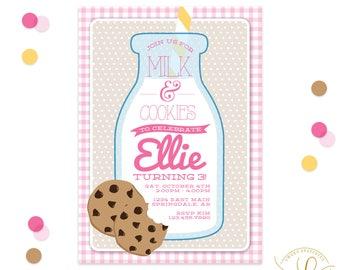 Milk and Cookies Invitation | Milk and Cookies Party | Milk and Cookies Baby Shower | Cookies and Milk Invitation | Cookies and Milk Party