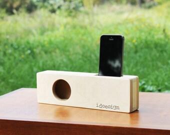 IPhone wood speaker. Handmade Passive speaker. Docking station Iphone. Acoustic speaker. Iphone speaker. Iphone Amplifier.