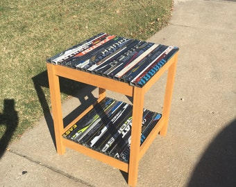 Two Level Hockey Stick End Table