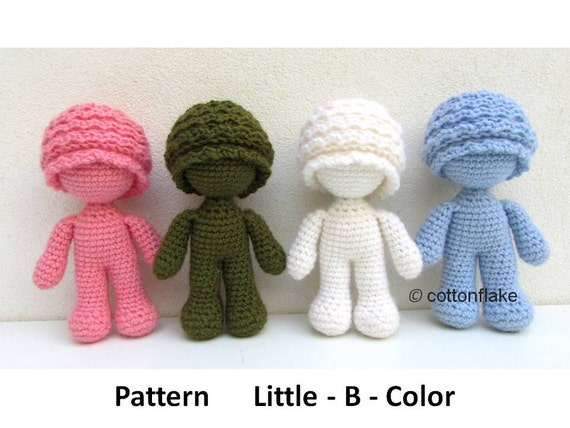 Pattern Little B Color doll amigurumi crochet human