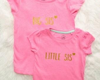 Big sis pregnancy announcement shirt big sis top Big sis pregnancy Big sister shirt big sis shirt Sibling pregnancy announcement sister top