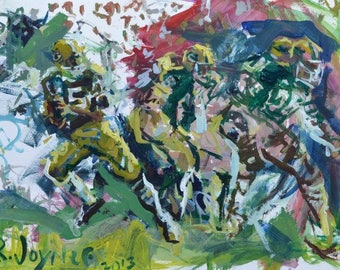 Green Bay Packers painting, NFL Art, American football Print, Gift For Him