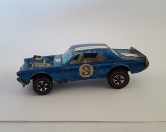 Vintage Redlines Hot Wheels blue Nitty Gritty Kitty,  paint issues restoration project or filler