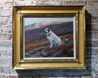 Michael Coleman -Pack Dog in the Yukon territory -Beautiful Oil Painting  oil painting on Masonite