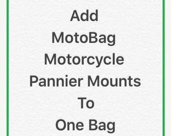 10% OFF SALE Add MotoBag Motorcycle Pannier Mounts to one bag