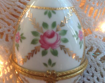 Egg Trinket Box Blue Danube