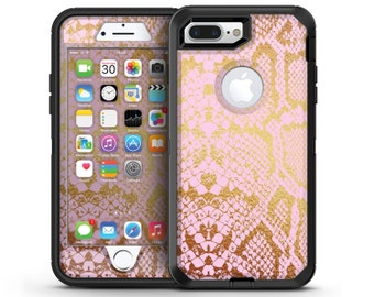 Pink Gold Flaked Animal v6 - OtterBox Case Skin-Kit for the iPhone, Galaxy & More