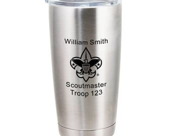 Boy Scout Leader 20 oz Stainless Steel Vacuum Insulated Tumbler