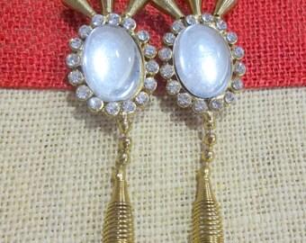 Antique Bronze Metal Embellishment, Wedding Accents, Metal Brooch, Rhinestone Charm, Bag Embellishment, Craft Supplies