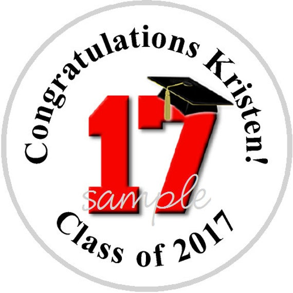 ... Graduation Candy Stickers - fits Hershey Kisses® - Pick Your Colors