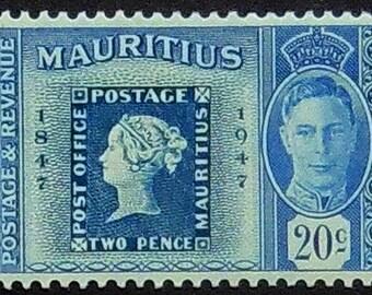 King George, Mauritius -Handmade Framed Postage Stamp Art 20692AM