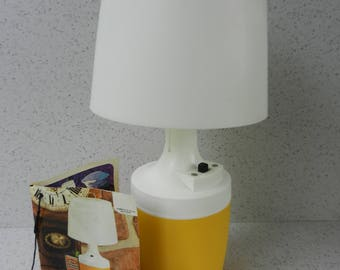Vintage Working Ray-O-Vac Lamp, No. 100, Portable Cordless Light, Yellow, Battery Operated, Camping, Camper, Boat, Indoor, Outdoor