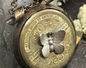 8 Day Pocket Watch Mainspring steampunk necklace  Circa 1910-1920 - The Victorian Magpie