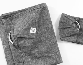 Ring Sling Gift Set | Big & Little | in Black Chambray