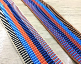 2 inch (50mm) Wide Colorful Striped Jacquard Soft Elastic Bands,Waistband Elastic,Sewing Elastic