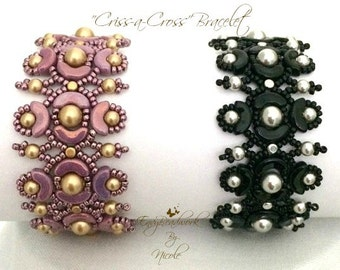 "Beading Kit:""Criss-A-Cross Bracelet in English  Only Beads D.I.Y."